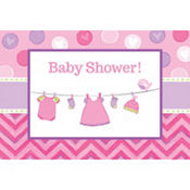 Girl Baby Shower Invitations 8ct - Shower With Love