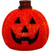 Light-Up Sparkling Jack-o'-Lantern