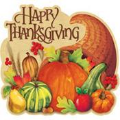 Happy Thanksgiving Cornucopia Cutout