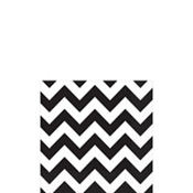 Black Chevron Beverage Napkins 16ct