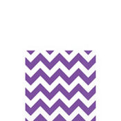 Purple Chevron Beverage Napkins 16ct