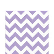 Lavender Chevron Lunch Napkins 16ct