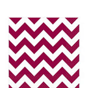 Berry Chevron Lunch Napkins 16ct