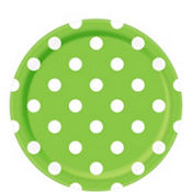 Kiwi Green Polka Dot Lunch Plates 8ct