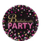 Metallic Bachelorette Party Dessert Plates 8ct - Sassy Bride