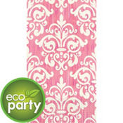 Eco-Friendly Pink Damask Guest Towels 16ct