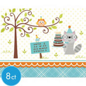 Boy Birthday Invitations 8ct - Happi Woodland