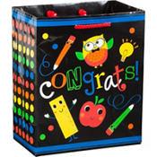 Schoolhouse Chalkboard Graduation Gift Bag