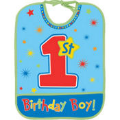 Hugs & Stitches Boy's 1st Birthday Boy Bib
