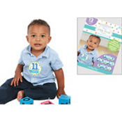Boy Baby Month Stickers 12ct