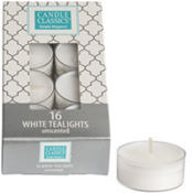 White Tealight Candles 16ct