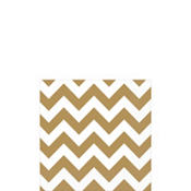 Gold Chevron Beverage Napkins 16ct
