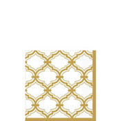 Gold Moroccan Beverage Napkins 16ct