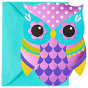 Metallic Owl Invitations 8ct