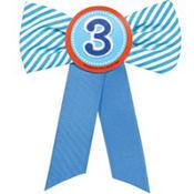 Blue 3rd Birthday Award Ribbon