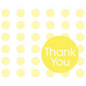 Yellow Dot Thank You Notes 8ct