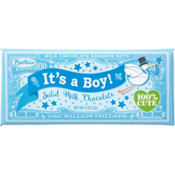 Blue It's a Boy Million Dollar Milk Chocolate Bar