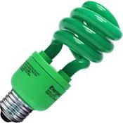 Green CFL Light Bulb