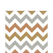 Metallic Chevron Lunch Napkins 16ct