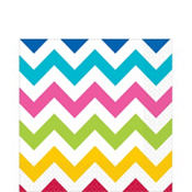 Bright Chevron Lunch Napkins 16ct