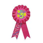Smile 3rd Birthday Award Ribbon
