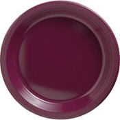 Berry Plastic Dinner Plates 20ct
