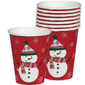 Very Merry Snowman Cups 8ct