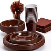 Chocolate Brown Tableware