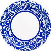 Royal Blue Ornamental Scroll Party Supplies