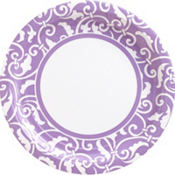 Lavender Ornamental Scroll Party Supplies