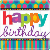 Happy Birthday Dots & Stripes Party Supplies