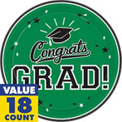 Green Congrats Grad Graduation Party Supplies