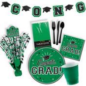 Green Congrats Grad Graduation Party Supplies