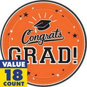 Orange Congrats Grad Graduation Party Supplies