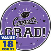 Purple Congrats Grad Graduation Party Supplies