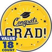 Yellow Congrats Grad Graduation Party Supplies