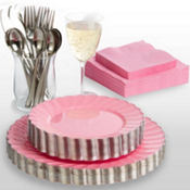 Pink Premium Scalloped Tableware