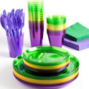 Mardi Gras Plastic Party Supplies