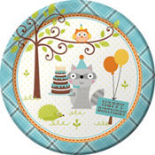 Boy 1st Birthday Party Supplies - Happi Woodland