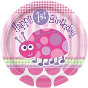 Pink Ladybug 1st Birthday Party Supplies