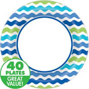 Cool Wavy Stripes Party Supplies