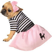 50's Girl Dog Costume