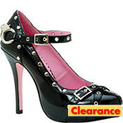 Studded Handcuff Platform Cop Shoes