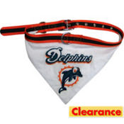 Miami Dolphins NFL Dog Collar Bandana