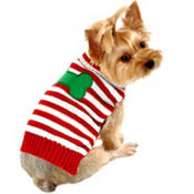 Candy Cane Christmas Dog Sweater