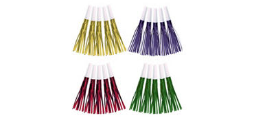 Metallic Fringe Squawkers 30ct