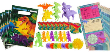 Prehistoric Dinosaurs Favor Value Pack with 48 pieces