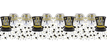 Gold and Silver New Years Table Decorating Kit 11pc