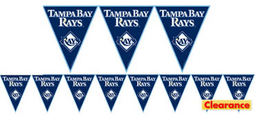 Tampa Bay Rays Pennant Banner 12ft