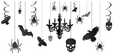 Shocktails Gothic Glitter Room Decorating Kit 17pc